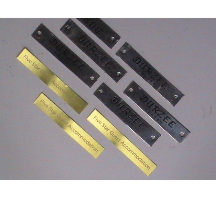 Rectangular Metal Stickers