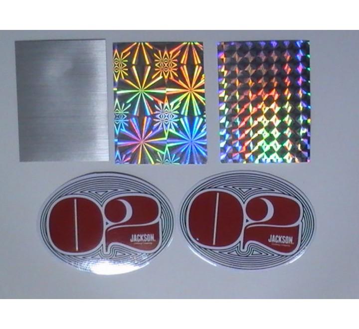 Oval Metallic Stickers