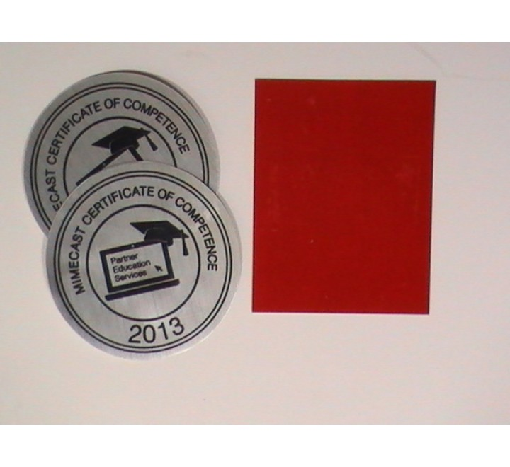 Red Colour Metallic Stickers