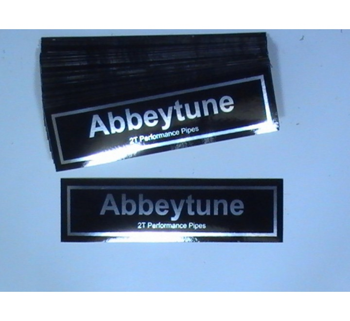 Rectangular Metallic Stickers