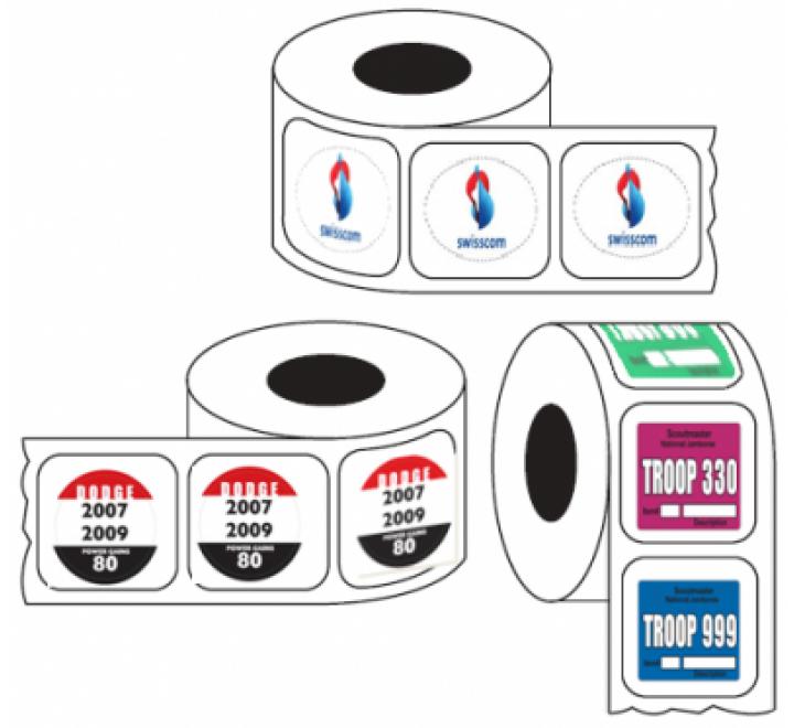 Die Cut Roll Stickers