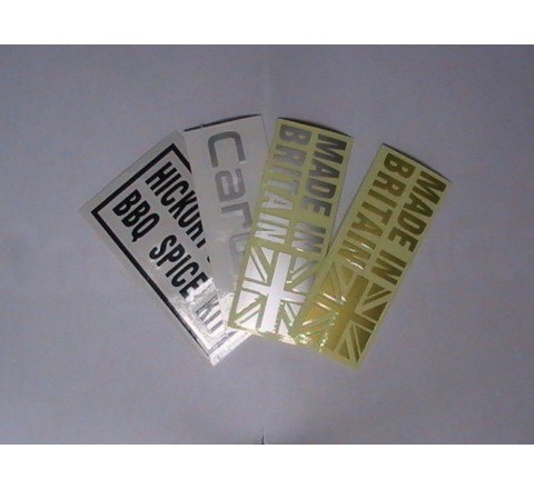 Custom Letter Cut Stickers