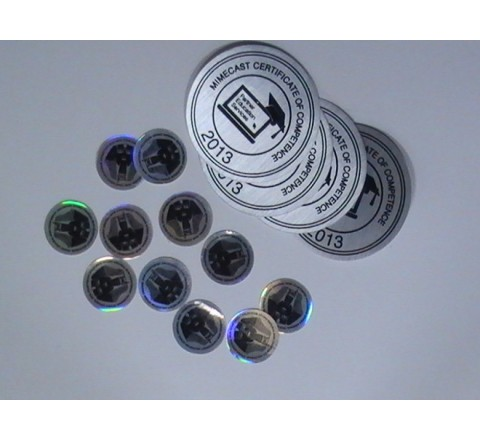 Round Metallic Stickers